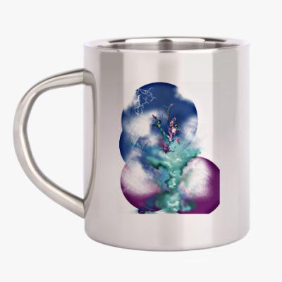 Кружка металлическая Изумрудная ваза. Абстракция