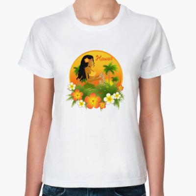 Классическая футболка  Hawaii girl