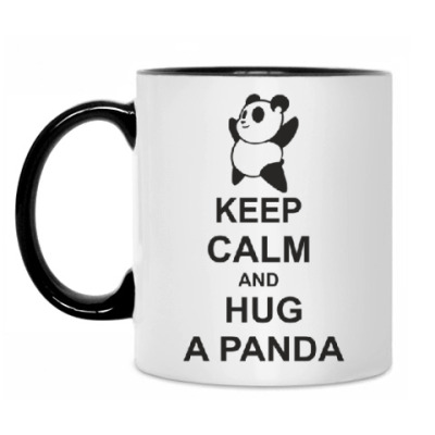 Кружка Keep calm and hug a panda