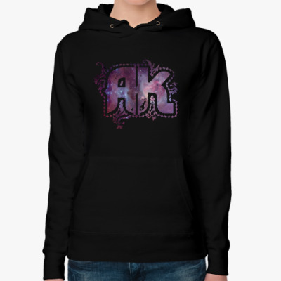 Женская толстовка худи 'AK out of Space' Black Hoody