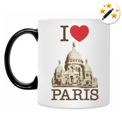 Кружка-хамелеон I love PARIS!