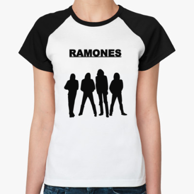Женская футболка реглан Ramones fgr  Ж ()