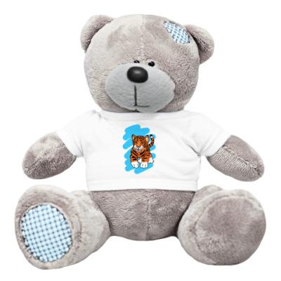 Плюшевый мишка Тедди тигр