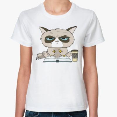 Классическая футболка Грустный Кот (Grumpy Cat)