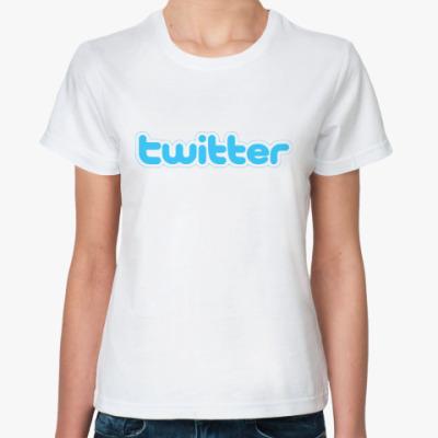 Классическая футболка  футболка Твиттер