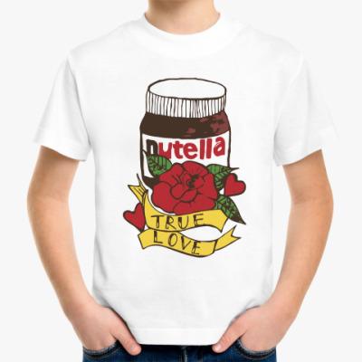 Детская футболка Nutella Нутелла Шоколад