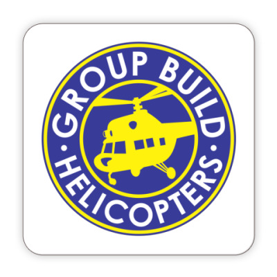 Костер (подставка под кружку) Подставка GB:Helicopters