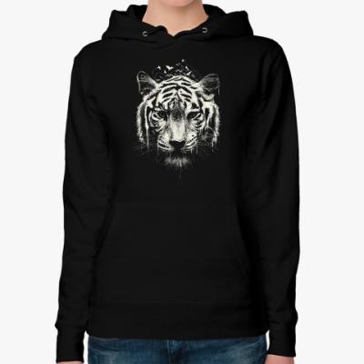 Женская толстовка худи Тигр