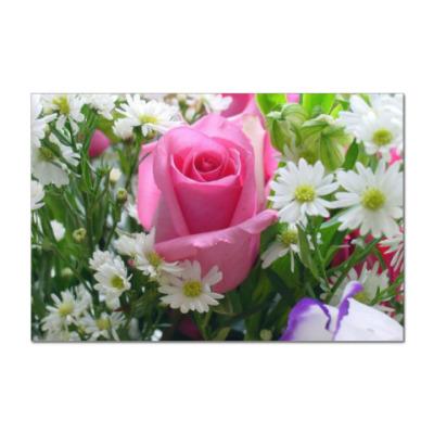 Наклейка (стикер) Гордая роза