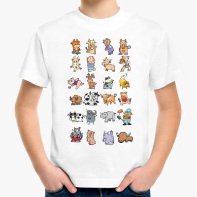 Детская футболка Cows and rinos