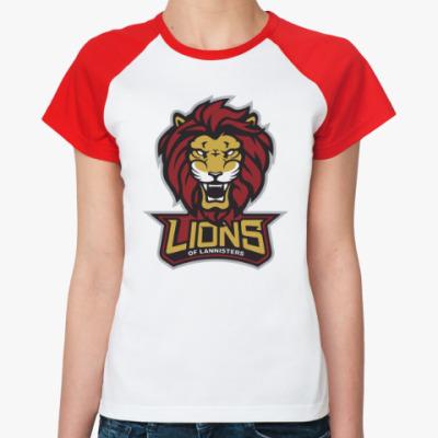 Женская футболка реглан Львы Ланнистеров