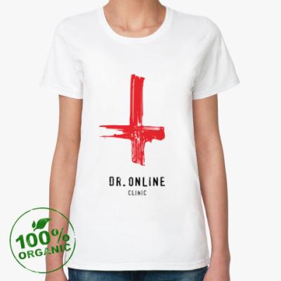 Женская футболка из органик-хлопка Dr. Online