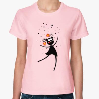 Женская футболка Веселая девочка