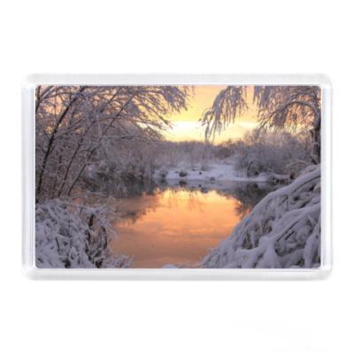 Магнит ик - Пейзаж зимой