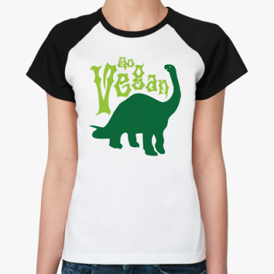 Женская футболка реглан Go Vegan