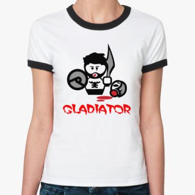 Женская футболка Ringer-T Гладиатор