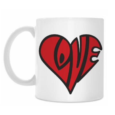 Кружка Love сердце