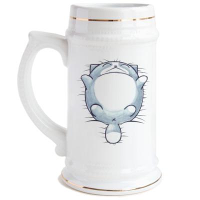 Пивная кружка Круглый кот