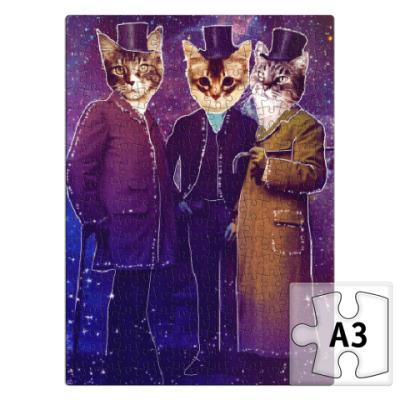 Пазл Три космических кота