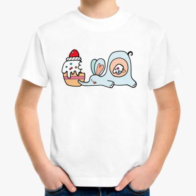 Детская футболка Сытый слон (kinder)