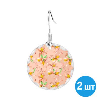 Серьги Нежный дизайн из цветков ванили
