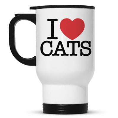 Кружка-термос I love cats!