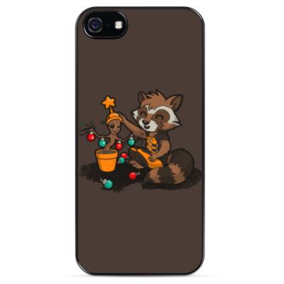 Чехол для iPhone Groot and Rocket Raccoon