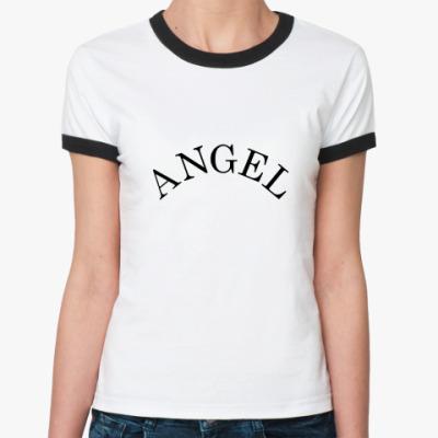 Женская футболка Ringer-T Angel с крылышками