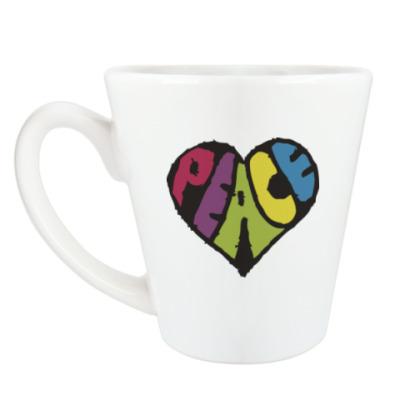Чашка Латте Сердце мира