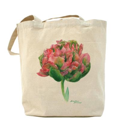 Сумка тюльпан акварель