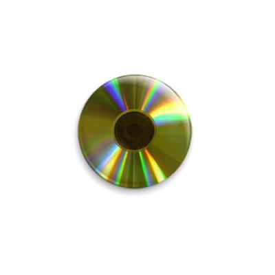 Значок 25мм 'CD'