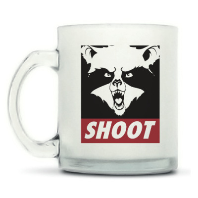 Кружка матовая Raccoon Shoot