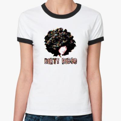Женская футболка Ringer-T Dirty Disco