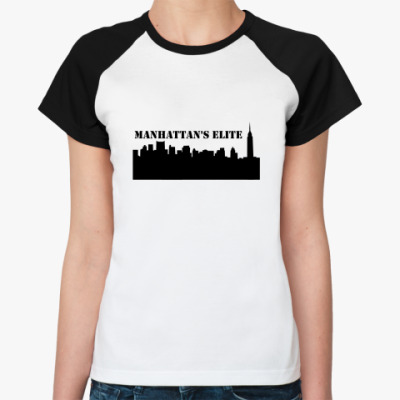 Женская футболка реглан Сплетница
