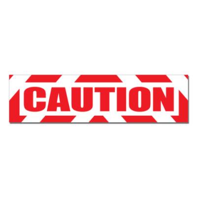 Наклейка (стикер)  Caution