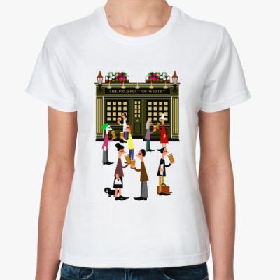 Классическая футболка Вечер пятницы в Лондоне