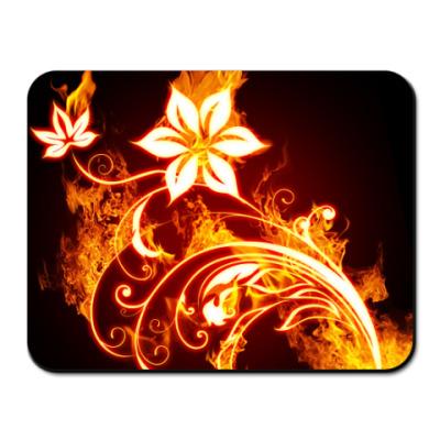 Коврик для мыши Огненные цветы