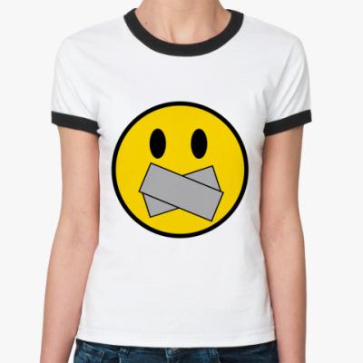 Женская футболка Ringer-T Немой Смаил