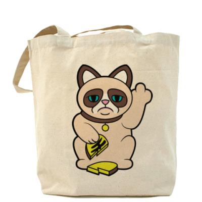 Сумка Tard Grumpy Cat Maneki Neko