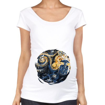 Футболка для беременных Тардис Ван Гог