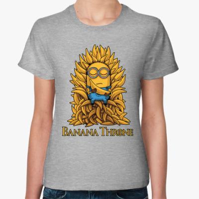 Женская футболка Banana Throne