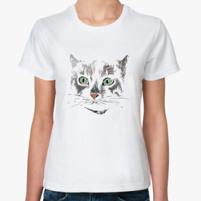 Классическая футболка Серьезный кот