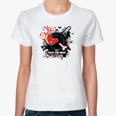 Классическая футболка  FUCK THE MEAT