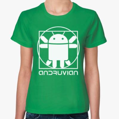 Женская футболка Витрувианский Андроид