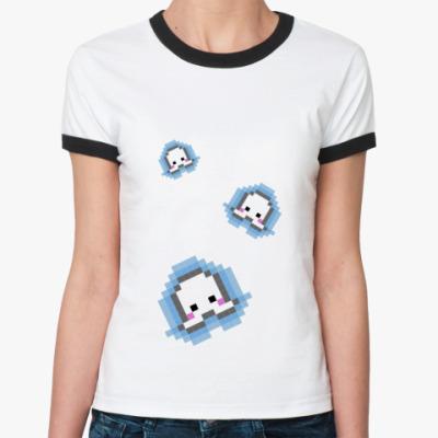 Женская футболка Ringer-T pixel