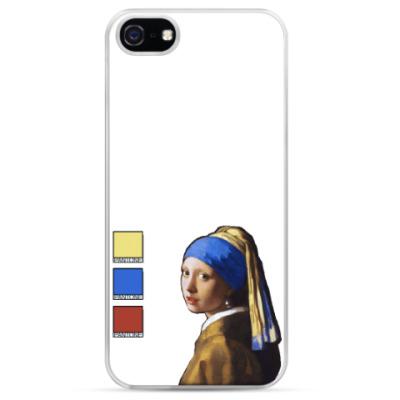 Чехол для iPhone Девушка с сережкой