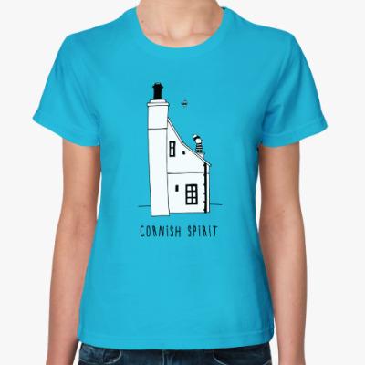 Женская футболка Корнуольский домик