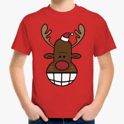Детская футболка Олень с улыбкой