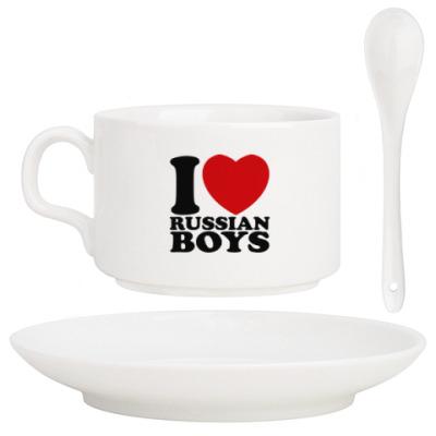Кофейный набор Люблю русских парней