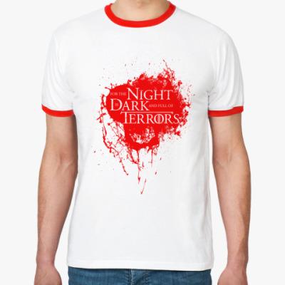 Футболка Ringer-T Ибо ночь темна и полна ужасов